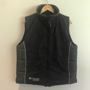 Colombia sport black puffer vest with zipper